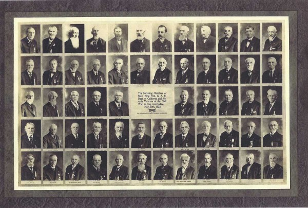 Photos or Starr King Post #52 Members-1922